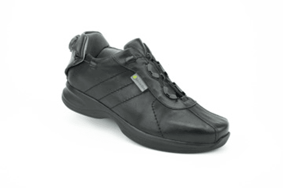 Genova Black Hemi Casual Shoe
