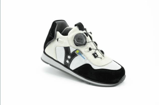 Napoli White/Black AFO Shoe