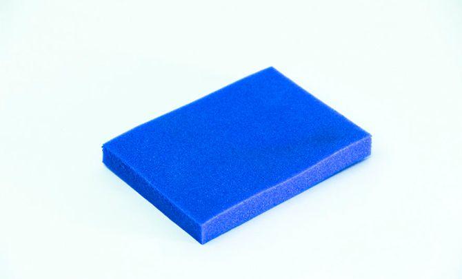 Blue nitroplast foam 80x100x10mm